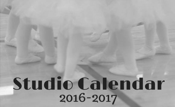 Studio Calendar for 2016-2017