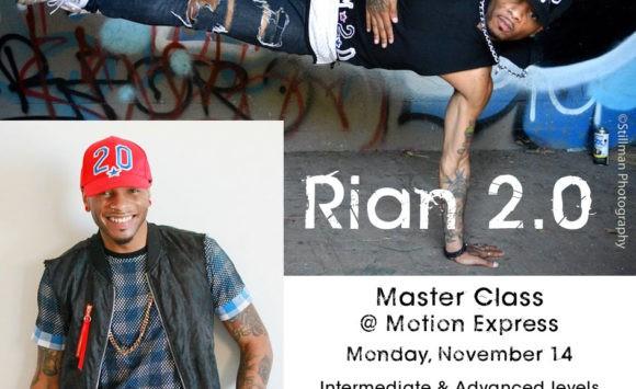 Nov. 14 Master Classes Announced